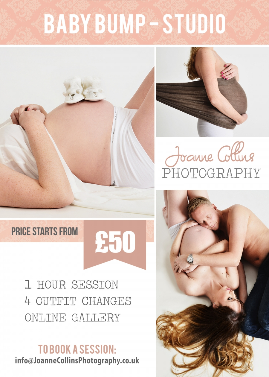 BABY BUMP PRICES studio photographer kent