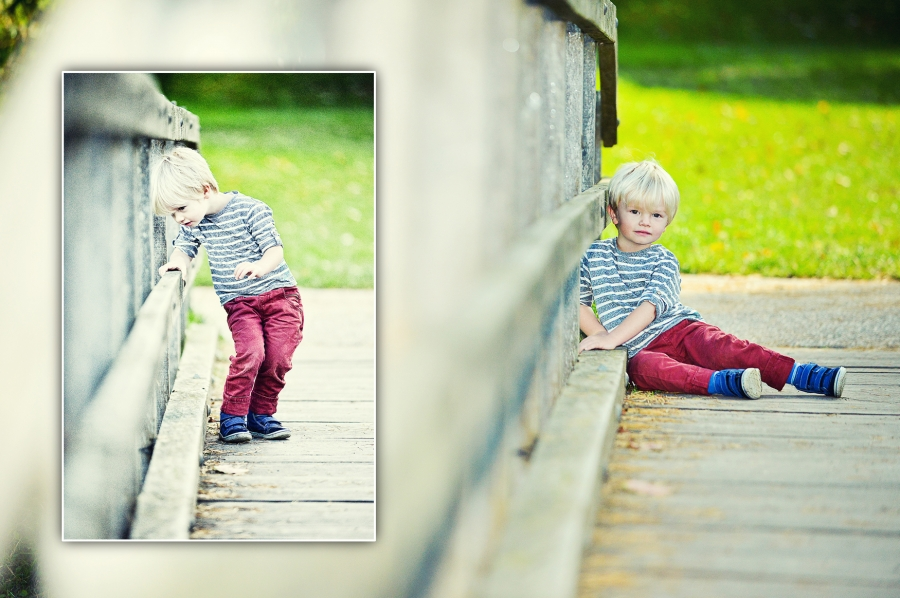 on location photography hever castle with lovely 2 year old beau, here on the bridge