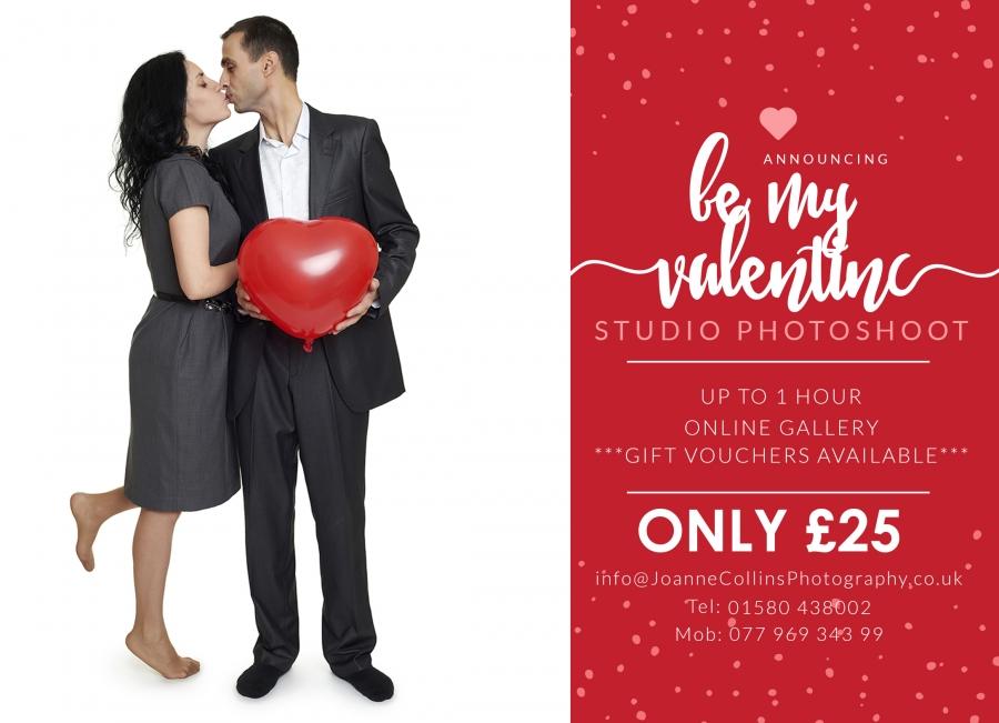 Valentines Day Studio Photoshoot Maidstone studio photographer