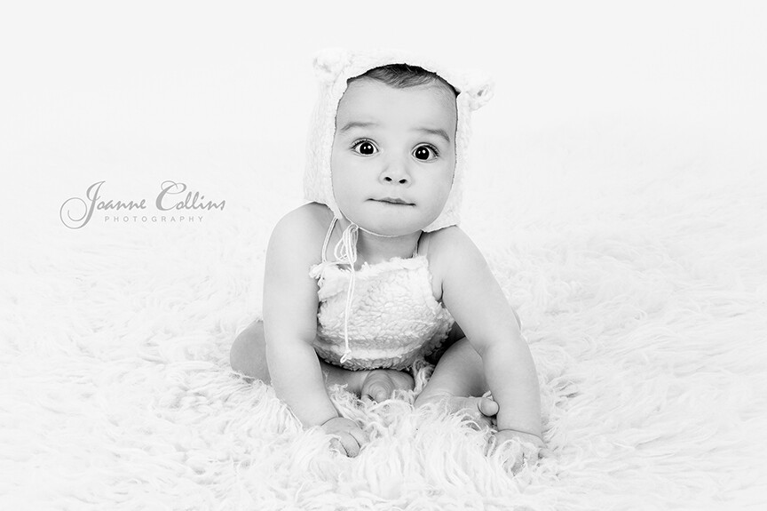 Baby Studio Photographer Maidstone 6 month baby in lamb outfit