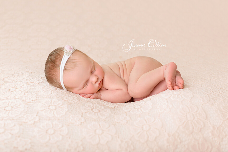 Baby Photographer Ashford 9 days old newborn baby girl