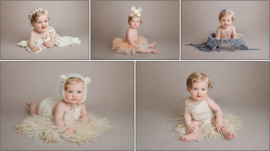 Baby Sitter Photography Special Offer Kent. Babies 7-10 months in baby lamb outfit and tutu. Tunbridge Wells baby photographer